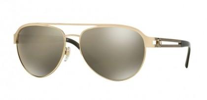 Versace 0VE2165 12525A Pale Gold - Light Brown Mirror Dark Gold