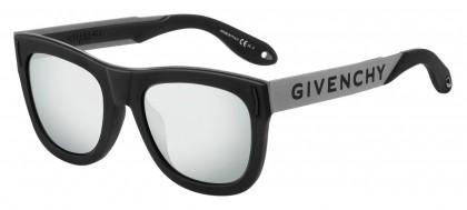 Givenchy GV 7016/N/S BSC (T4) Black Silver - Black Flash Mirror
