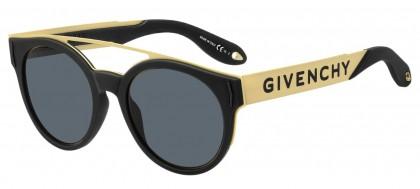Givenchy GV 7017/N/S 2M2 (IR) Black Gold - Grey Blue