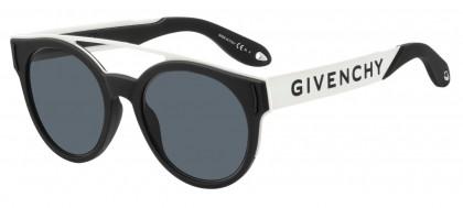 Givenchy GV 7017/N/S 80S (IR) Black White - Grey Blue