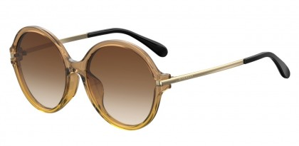 Givenchy GV 7135/F/S GLN/HA Brown Yellow - Brown Shaded