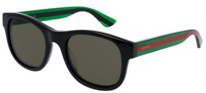Gucci GG0003S-002 Black Green - Shiny Green