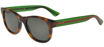 Gucci GG0003S-003 Havana Green - Shiny Grey