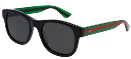 Gucci GG0003S-006 Black Green - Shiny Grey