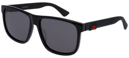 Gucci GG0010S-001 Black Black - Shiny Grey