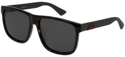 Gucci GG0010S-003 Havana Brown - Dark Grey