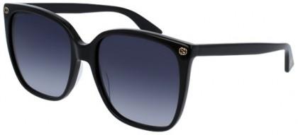 Gucci GG0024S-001 Black Black - Shiny Grey