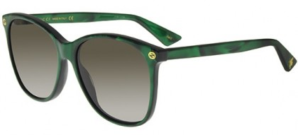 Gucci GG0024S-004 Green Green - Shiny Brown