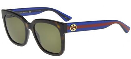 Gucci GG0034S-004 Havana Blue - Dark Brown