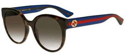 Gucci GG0035S-004 Havana Blue - Dark Brown
