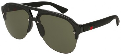 Gucci GG0170S-001 Black Black - Shiny Green