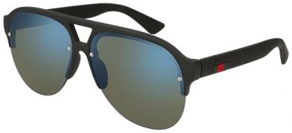 Gucci GG0170S-002 Black Black - Matte Blue
