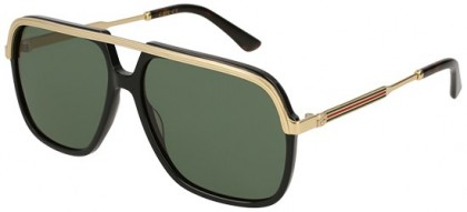 Gucci GG0200S-001 Black Gold - Gold Green