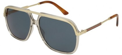 Gucci GG0200S-004 Brown Gold - Gold Blue