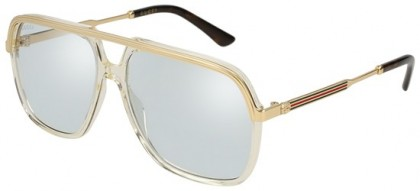 Gucci GG0200S-005 Yellow Gold - Gold Light Blue