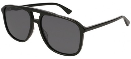 Gucci GG0262S-001 Black Black - Shiny Grey