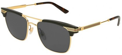 Gucci GG0287S-001 Black Gold - Gold Grey