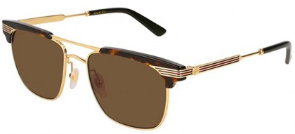 Gucci GG0287S-003 Havana Gold - Gold Brown