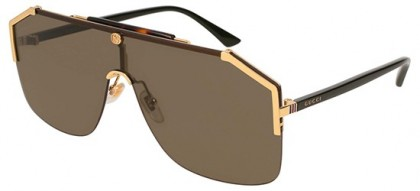 Gucci GG0291S-002 Gold Black - Havana Brown