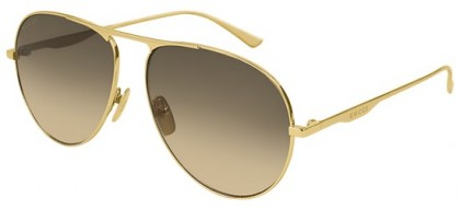 Gucci GG0334S-001 Gold Gold - Shiny Brown