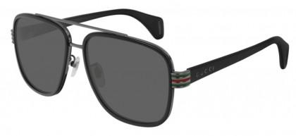 Gucci GG0448S-001 Black Shiny Black - Grey