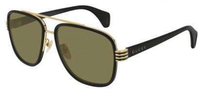 Gucci GG0448S-002 Black Shiny Black - Brown