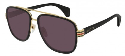 Gucci GG0448S-003 Black Shiny Black - Violet
