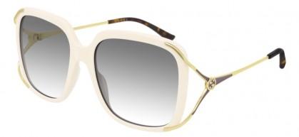 Gucci GG0647S-004 Ivory Gold - Grey Shiny