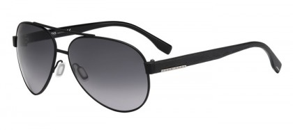 Hugo Boss BOSS 0648/F/S 10G (HD) Matte Black - Grey Shaded