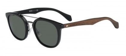 Hugo Boss BOSS 0777/S RAJ (85) Black Dark Brown - Grey Green