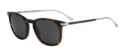 Hugo Boss BOSS 0783/S 0PC (Y1) Dark Havana Matte Black - Grey