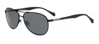 Hugo Boss BOSS 0824/S YZ2 (6E) Matte Black - Light Grey