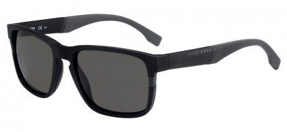 Hugo Boss BOSS 0916/S 1X1/NR Matte Black Grey - Grey Brown