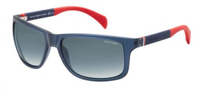 Tommy Hilfiger TH 1257/S 4NK/JJ - Transparent Blue Dark Blue / Grey Gradient