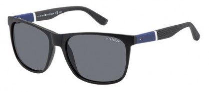 Tommy Hilfiger TH 1281/S FMA/3H - Matte Black Blue / Dark Grey Polarized