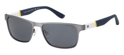 Tommy Hilfiger TH 1283/S FO5/3H - Ruthenium Blue / Grey Polarized