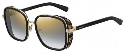 Jimmy Choo ELVA/S FP3 (FQ) Black Gold Leopard - Gray Gold Gradient Mirror