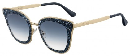 Jimmy Choo LIZZY/S KY2 (08) Blue Gold - Gray Blue Gradient
