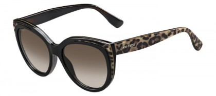 Jimmy Choo NICKY/S PUE (J6) Black Animalier Fantasy - Brown Shaded