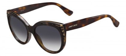 Jimmy Choo NICKY/S PUU (9C) Havana Animalier Fantasy - Dark Grey Shaded