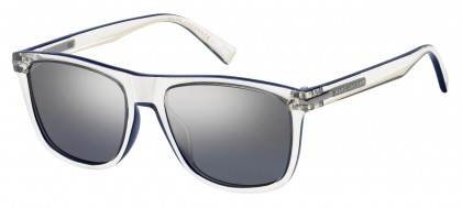 Marc Jacobs MARC 221/S QM4 (96) Crystal Blue - Light Gray Silver Mirror Gradient