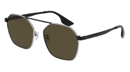 Mcq MQ0076S-001 Silver Black - Brown Black
