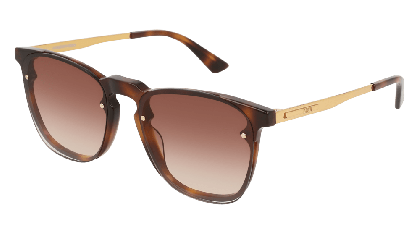 Mcq MQ0134S-002 Havana Gold - Brown Shiny