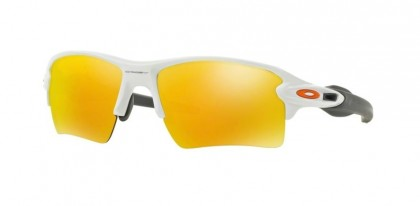 Oakley 0OO9188 FLAK 2.0 XL 918819 Polished White - Fire Iridium