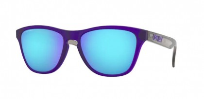 Oakley FROGSKINS XS 0OJ9006 900611 Matte Translucent Crystal Purp - Prizm Sapphire