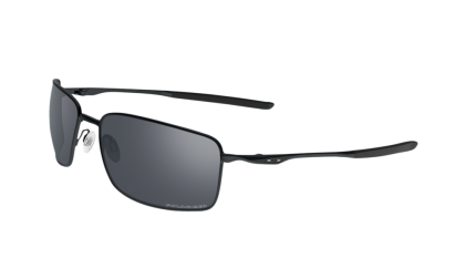 Oakley SQUARE WIRE 4075-05 - Matte Black / Black Iridium Polarized