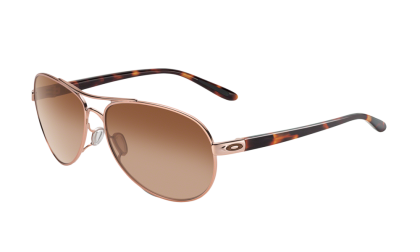 Oakley Feedback 4079-01 - Rose Gold / VR50 Brown Gradient