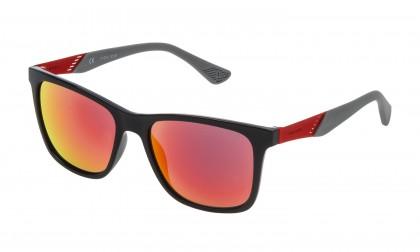Police SK053 Z42R Black Shiny - Smoke Multilayer Red
