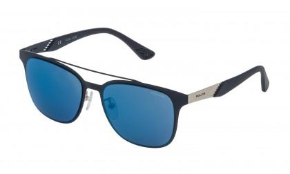 Police SK544 502B Palladium Matte Blue - Smoke Mirror Blue