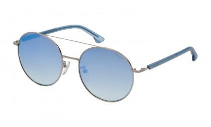 Police SK551 579B Palladium Shiny - Brown Gradient Mirror Blue